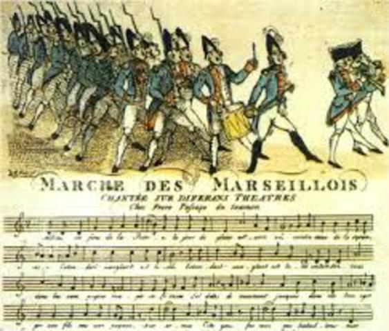 Marseillaise Accepted as the French National Anthem