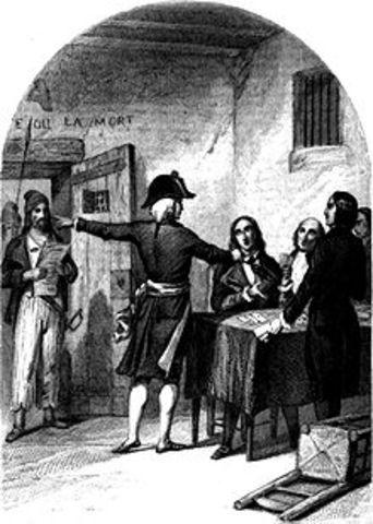 Insurrection leading to arrest of the Girondins