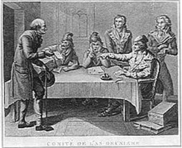 Robespierre named to the committee of public safety