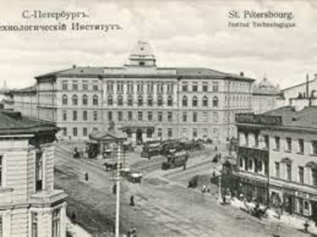 He started to go to the St. Petersburg Technological Institute