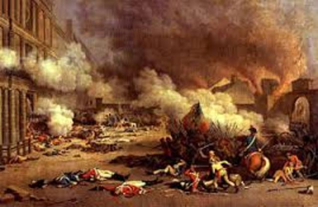 Insurrection in Paris and attack of Tuileries