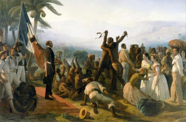 Slavery abolished in the French Colonies