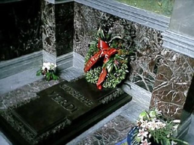 He died in Milan.