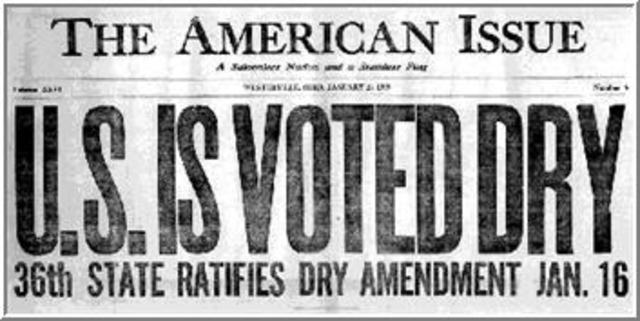 18th Amendment is passed