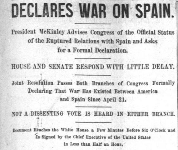 Spanish American War Begins