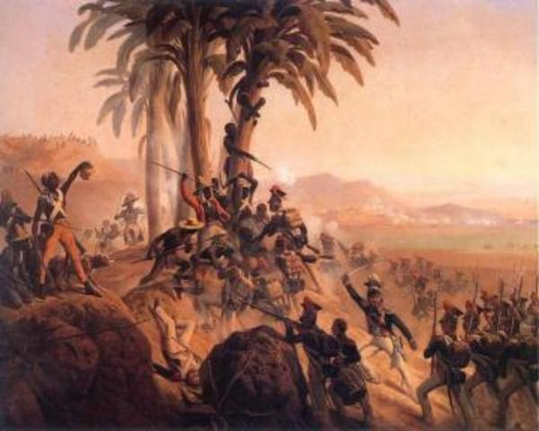 Revolt breaks out in French colony of St. Domingue