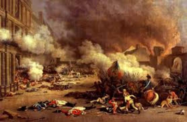 Mob of sans-culottes storms the Tuileries Palace