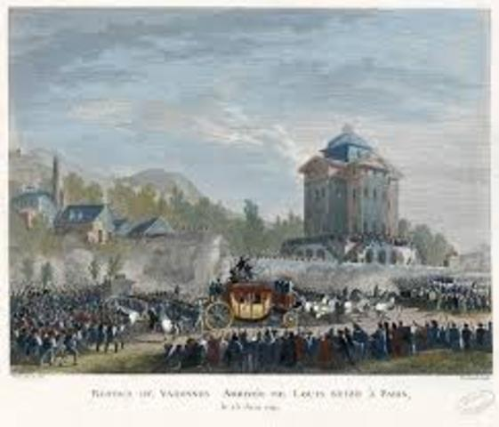 Louis XVI and Marie Antoinette are arrested