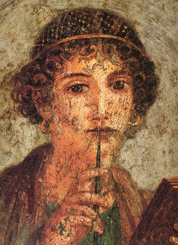 Sapfo, Antiken, född någon gång mellan 630 och 612 f.Kr.,