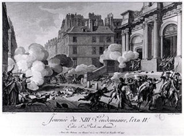 Napoleon puts down royalist revolt