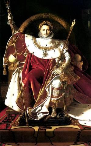 Napoleon Crows himself Emperor