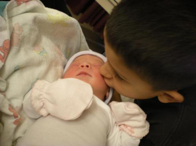 My baby sister Isabella was born
