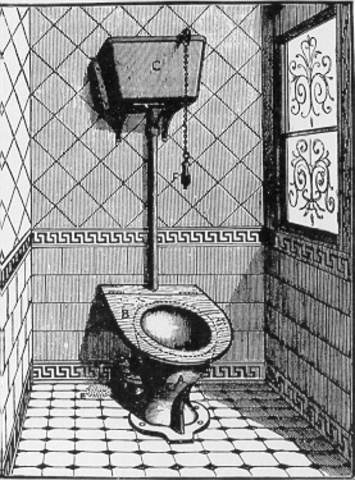 Flush toilet is invented