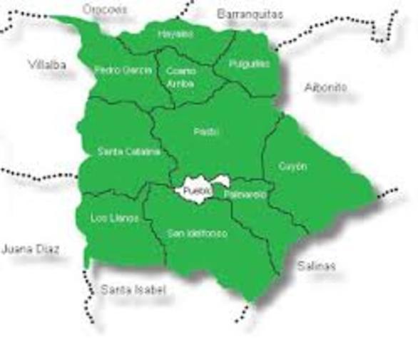 Pueblos o areas que colindan con Aibonito