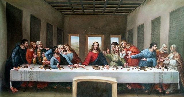 The last supper is painted
