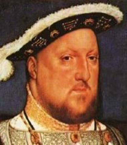 Henry the 8th becomes Head of English Church