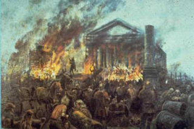 Solomon's Temple is destroyed and Jerusalem falls to Nebuchadnezzar
