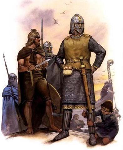 Начало завоевания англосаксонских земель датчанами