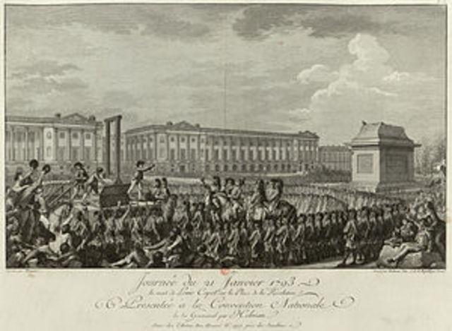 Luis XVI es ajusticiado.