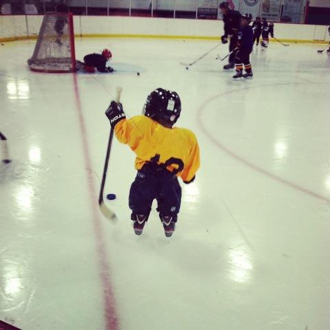 Bryce starts his first Hockey Program