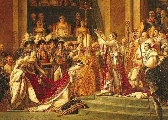 Napoleón Bonaparte coronado emperador