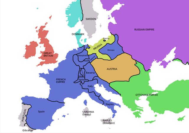 Máxima expansión del imperio napoleónico