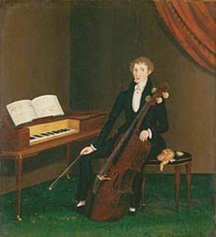 """John Bradley's """"The Cellist"""""""