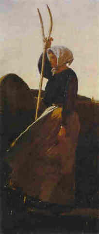 """Winslow Homer's """"Girl With Pitchfork"""""""