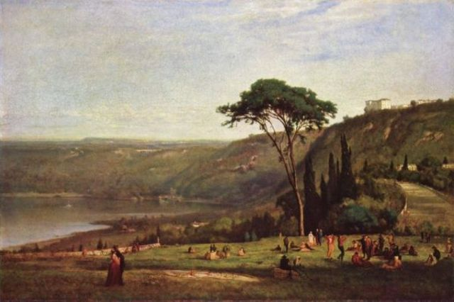 "George Inness' ""Lake Albano"""