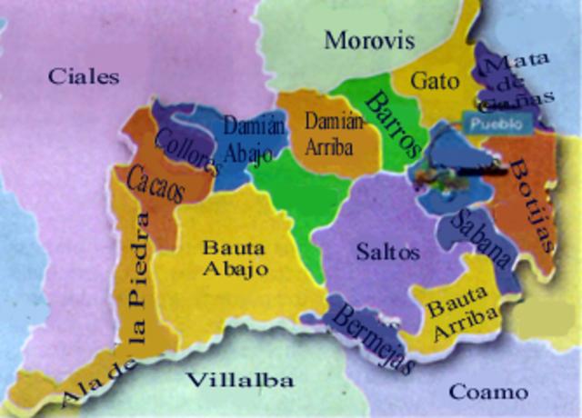Pueblos o areas que colindan