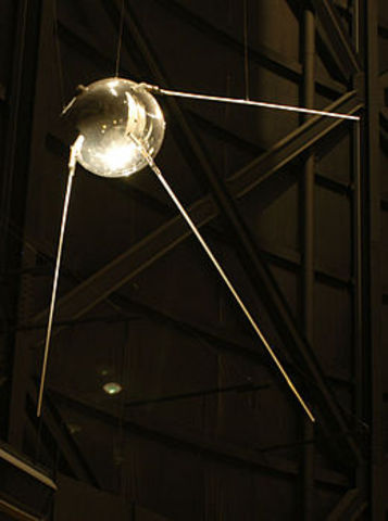 The first artificial satellite launched in space