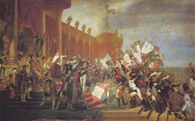 Comienzo del imperio napoleónico.
