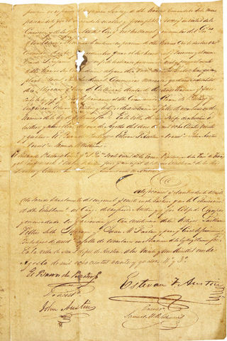 Stephen F. Austin recives last land grants