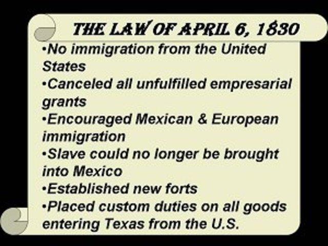 Law of April 1830