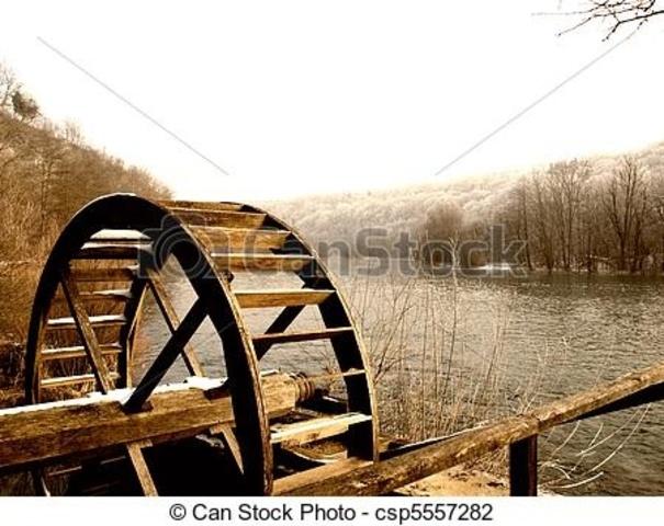 20 f. kr I antikens Rom började vattenkvarnar användas