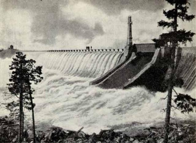 De fösta vattenkraftsanläggningarna byggdes i norden