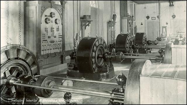 Elkraften och användning att vattenkraft fick sitt genombrott och började produceras första gången i Sverige