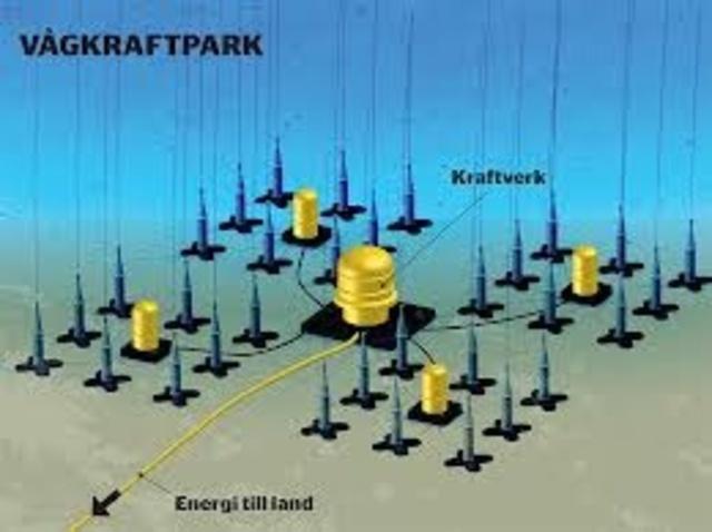 Ett svenskt projekt startar där man försöker producera el med hjälp av vågkraft.