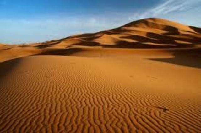 Neve nel Sahara
