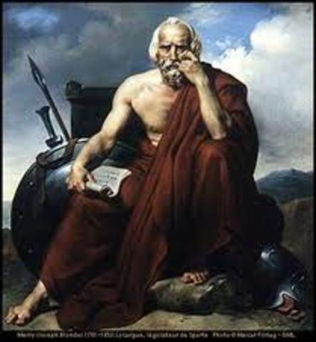 600 aC. Leyes de Licurgo, rey de Esparta.