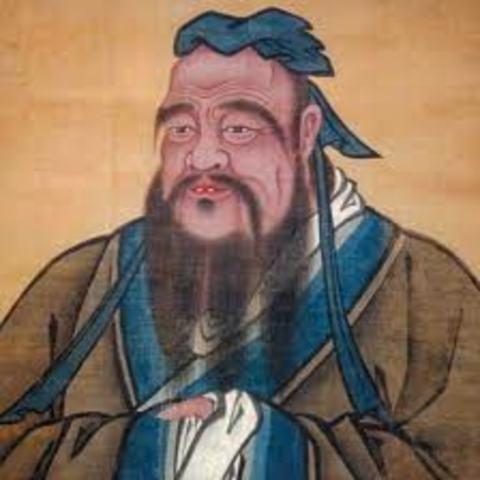 550 aC. Nacimiento de Confucio,