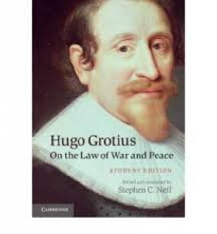 1625. Hugo Grotius: