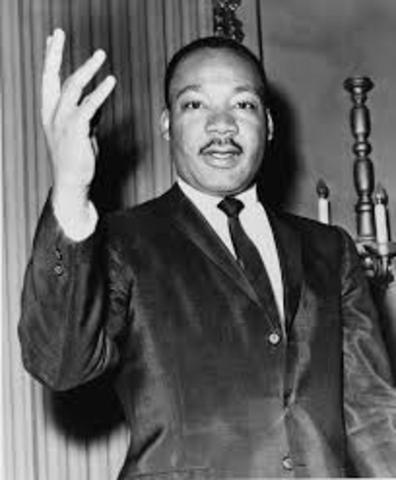 Martin Luther King Jr, is shot