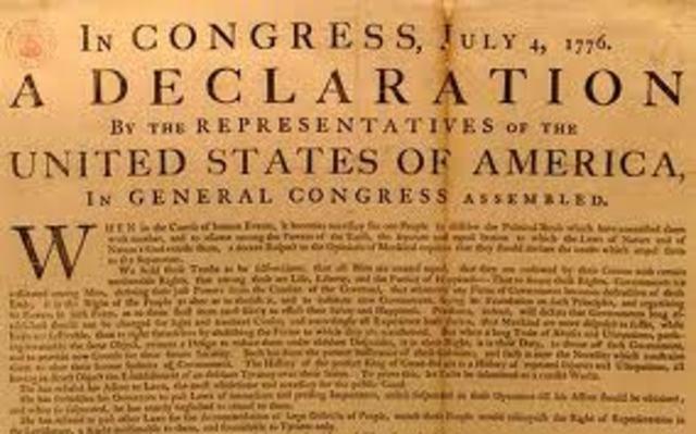 1776: Declaración de Independencia de Estados Unidos