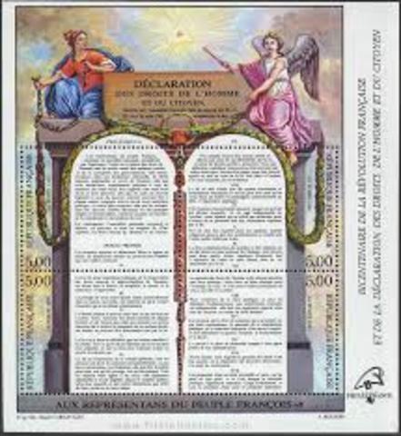 1789. Declaración de los Derechos del Hombre y del Ciudadano.