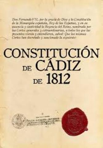 1812. Constitución de Cádiz