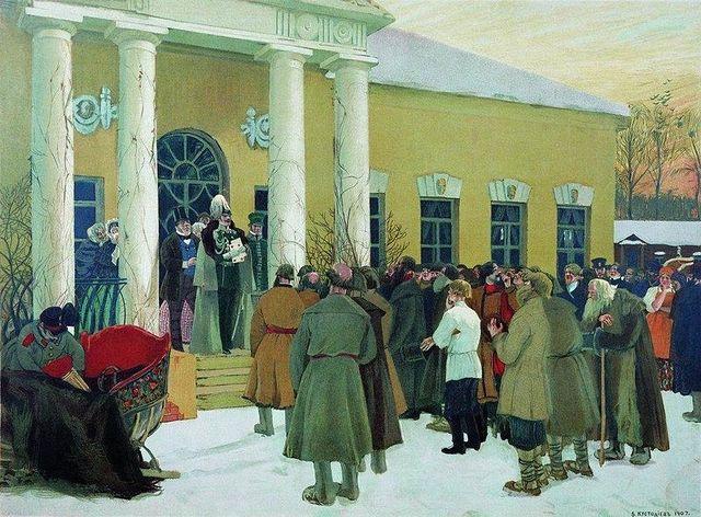 1858. Emancipación de los siervos en Rusia.