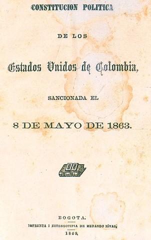 Constitución política 8  mayo  1863 derechos de gentes