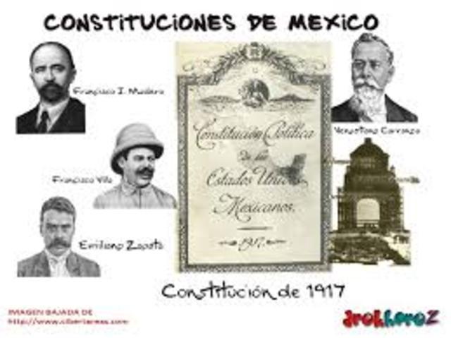 1917. Constitución mexicana.