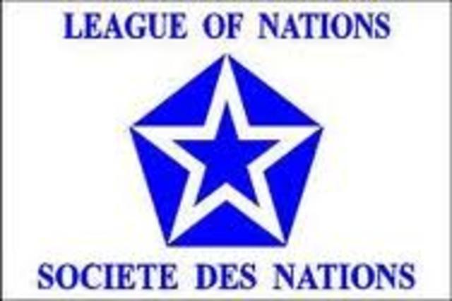 1919. Sociedad de Naciones,